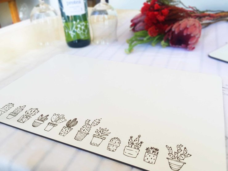 CACTUS PLACEMAT- SET OF 4 (M0334) by Miss Magpie