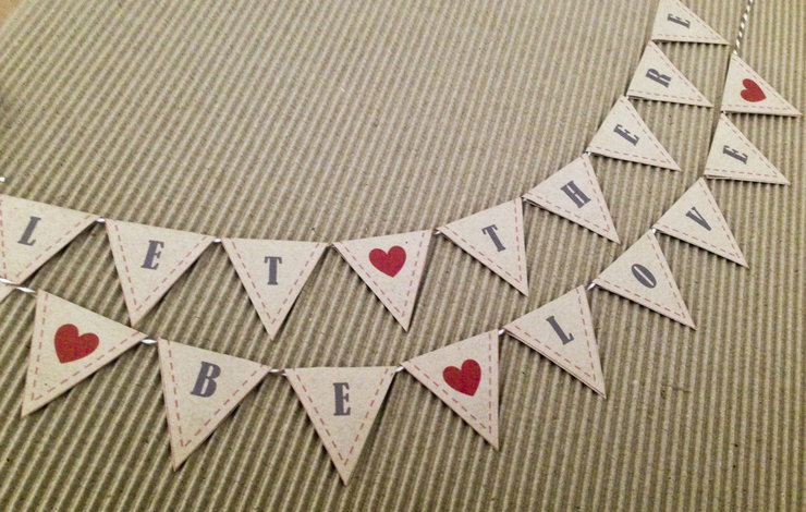 Personalised Cake Bunting by Darling & Good