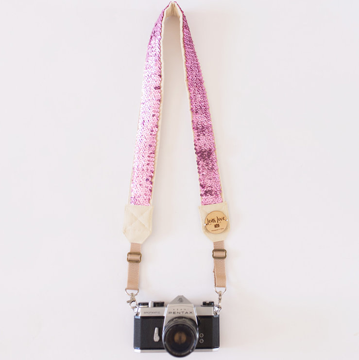 Minx {Pink} Camera Strap by Lens Love