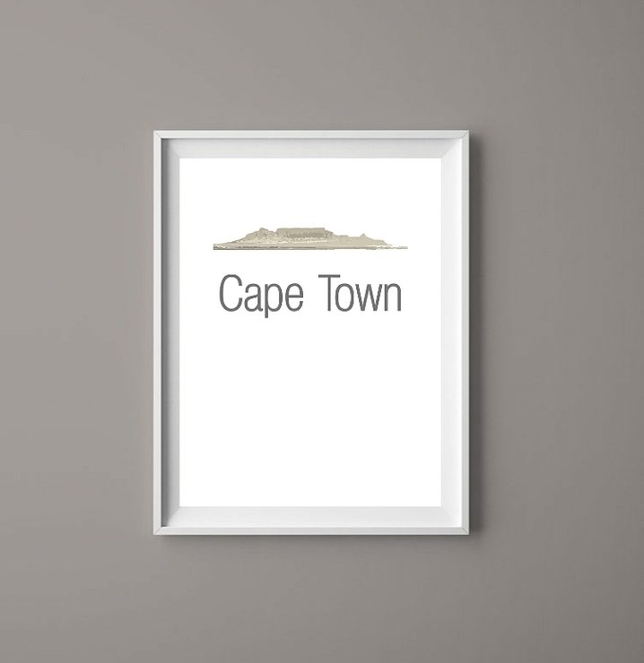Cape Town - Table Mountain Printable Art Print  by  ImPrintable | Art