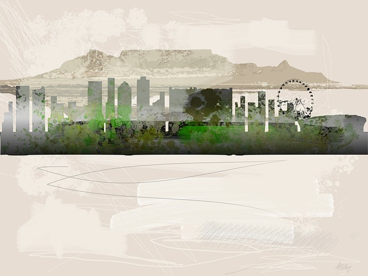 Cape Town Skyline A1 by  ImPrintable | Art
