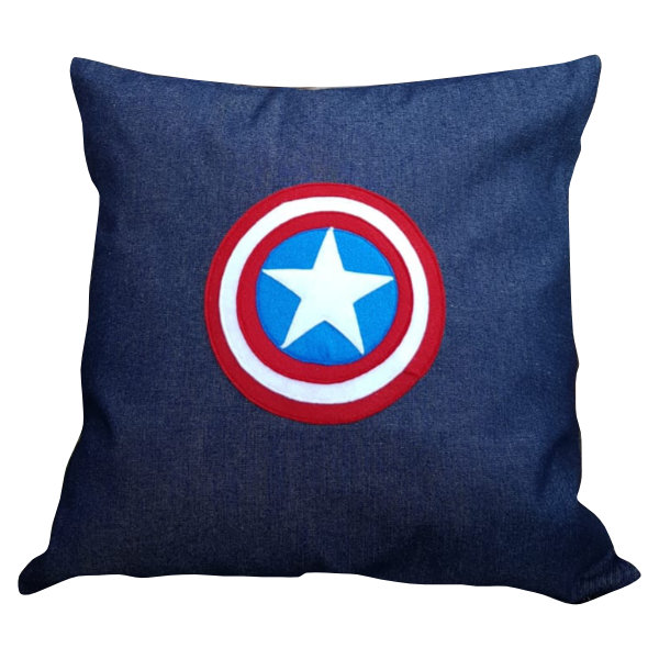 Captain America scatter cushion cover by Going Dutch In Sa