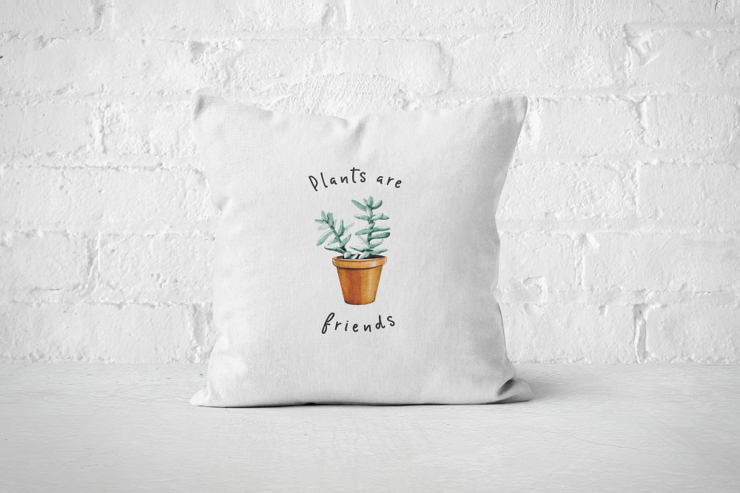Plants are Friends | Pillow Cover by But Why Not