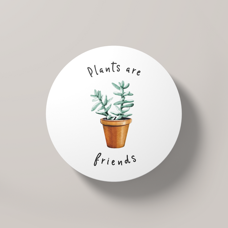 Plants are Friends | Round Coaster by But Why Not