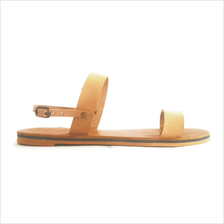 CARMEN LEATHER SANDALS (BEIGE) by Kalimera SA