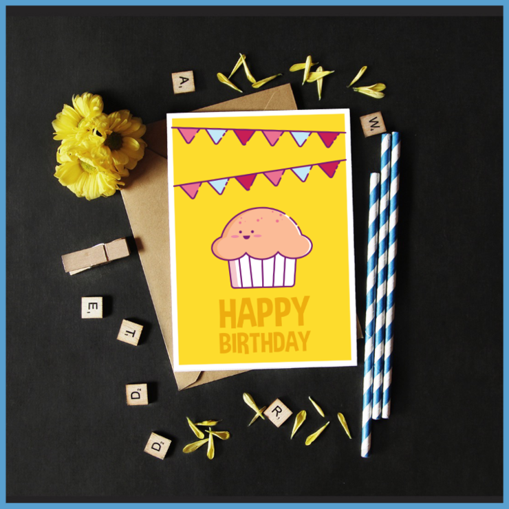 Cartoon Food & Beverage Set of 5 Note Cards by The Art of Creativity Studio