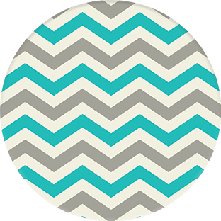 Coasters | BAMBINO Collection | Grey n Blue ZigZag | CB012 by RAkt