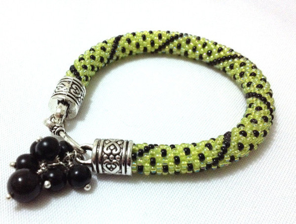 Bead Crochet Bracelet - AKJ006 by AnKa Jewellery