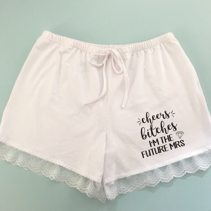 Bride Cheers Bitches Pyjama shorts   by Polkadot Box