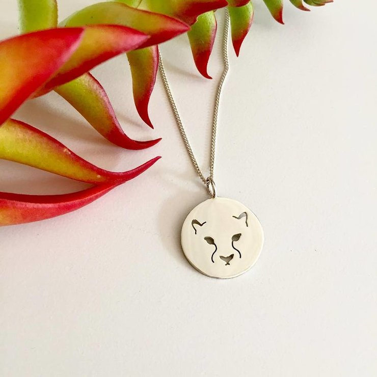 Handmade Sterling Silver - Cheetah Pendant by Jessica Jane Jewellery