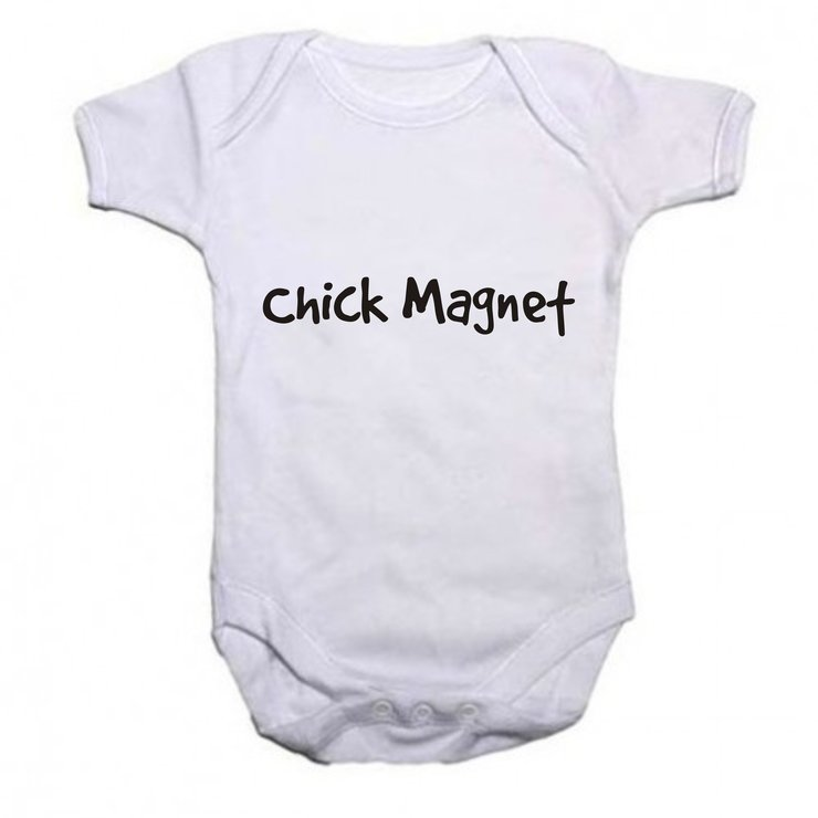 Chick magnet baby grow by Qtees Africa (Pty)Ltd