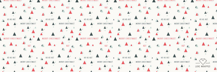 A3 Printed Wrapping Paper (Christmas1) by LOVE WRAPPED