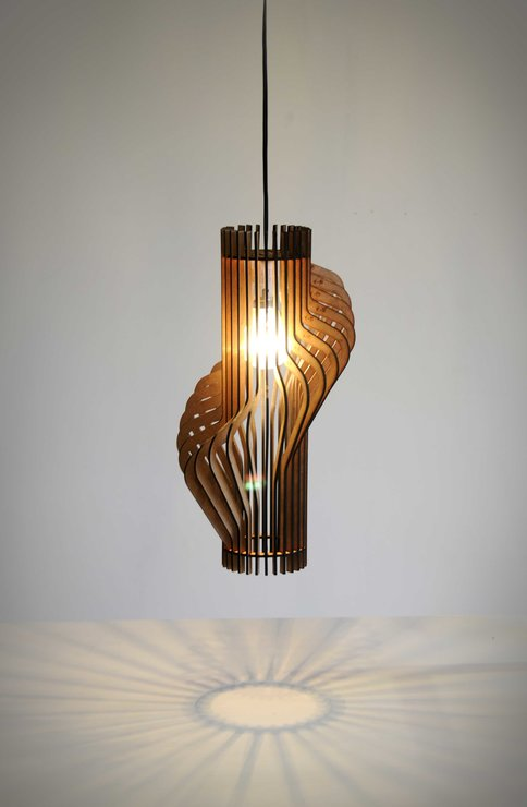 Light: Circle Twist - Flat Pack Pendant Light by Godspeed Trading