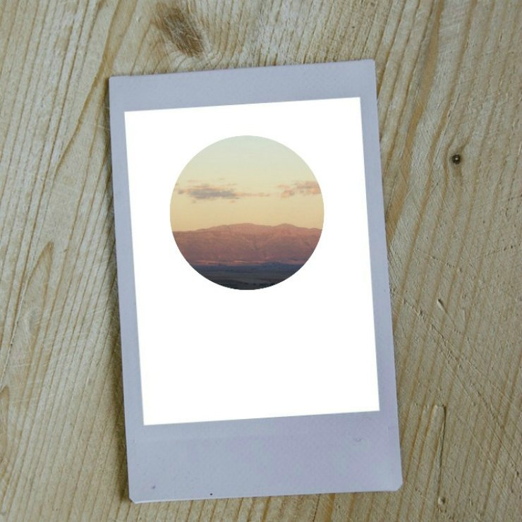 Digital Circular Print - Mountains at Dusk by Prints by Roxb