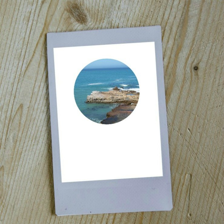 Digital Circular Print - Rocky Shore 1 by Prints by Roxb