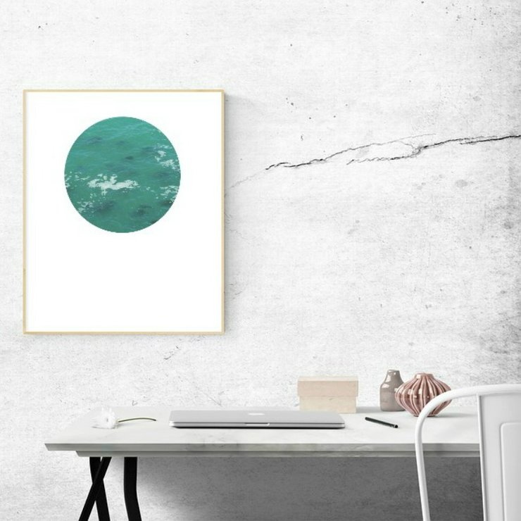 Digital Circular Print - Waves by Prints by Roxb