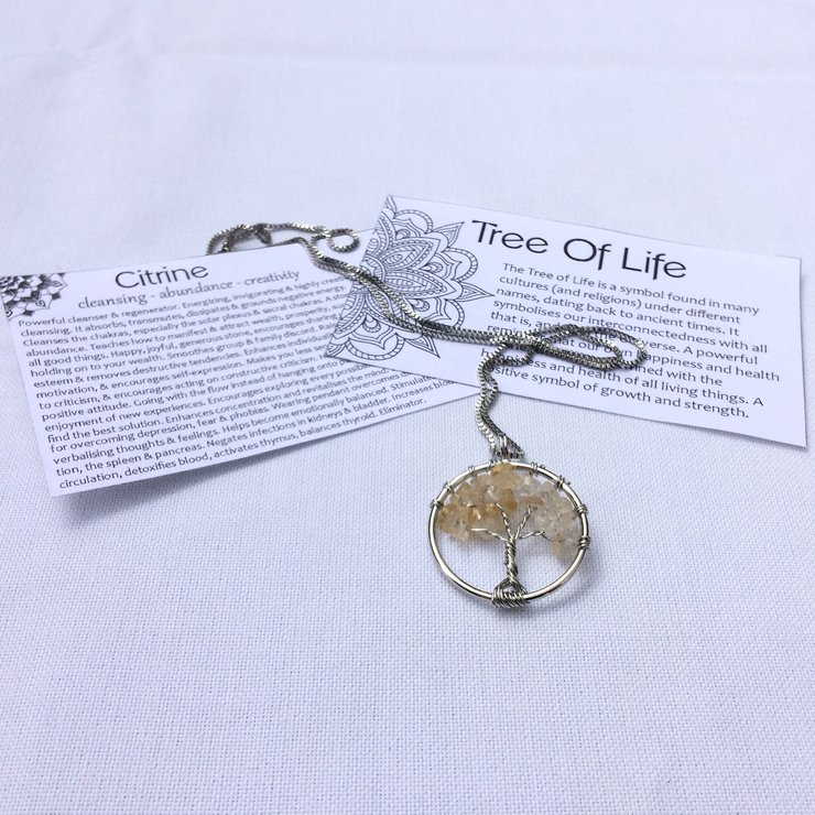Tree of Life Necklace - Citrine