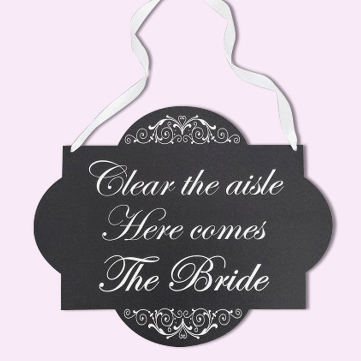 Here comes the Bride sign by Polkadot Box
