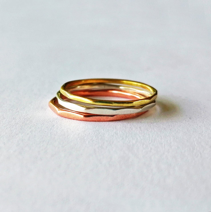COLA TOP Stackring. Mixed metals by Miss H Jewellery Design