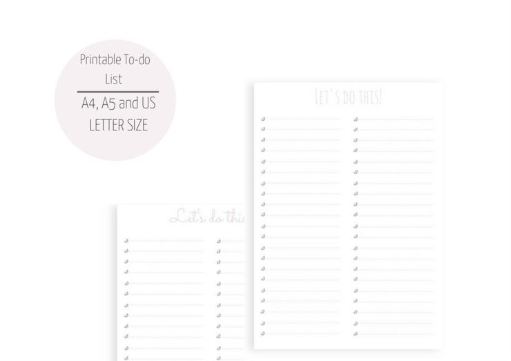 To Do List Printable Planner To Do List Bullet Journal