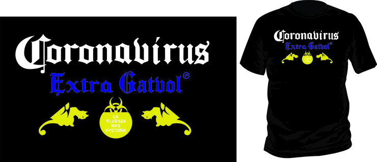 Coronavirus: Extra Gatvol (Men's) by Laugh it Off