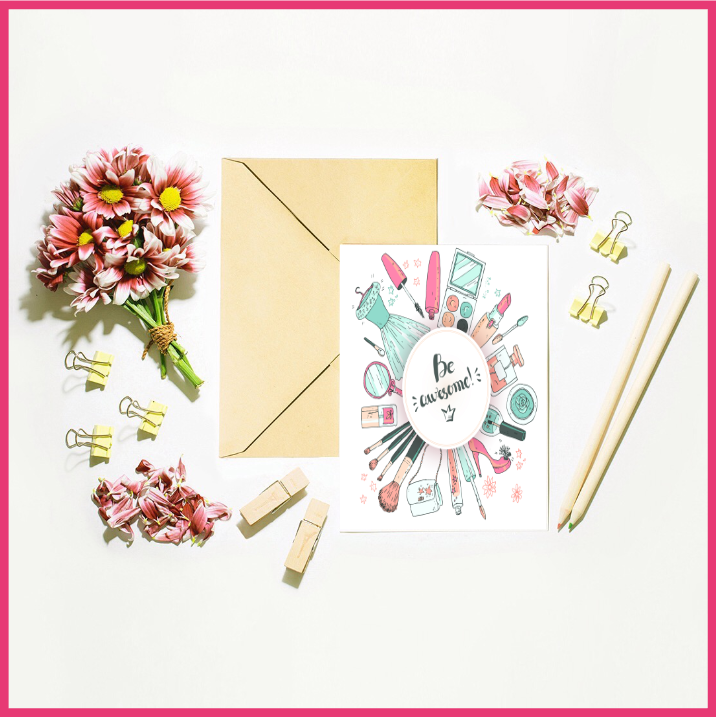 Cosmetic Beauty Set of 2 Cards by The Art of Creativity Studio