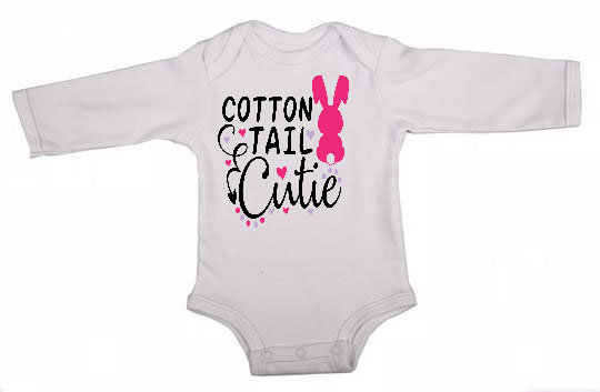 Cotton Tail Cutie  Easter Long Sleeve Babygrow by Skoenlapper Pty Ltd
