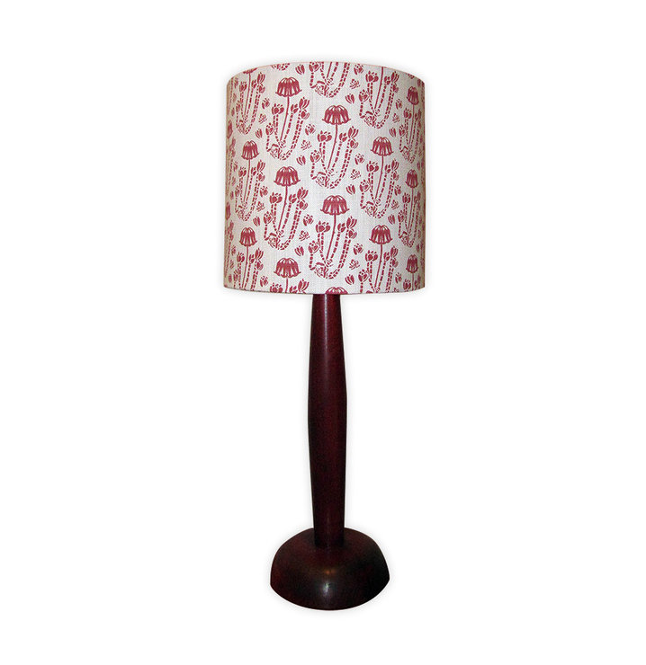 Cotyledon lampshade by Quagga Fabrics and Wallpapers