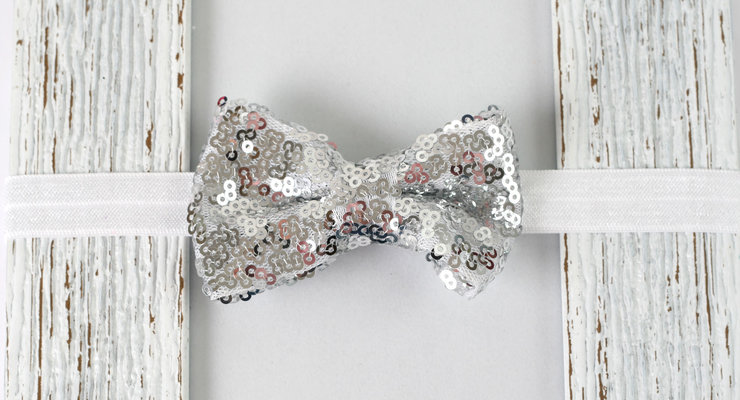 Croshka Designs Sequins Bow Headband SET - CHOOSE 2! by Croshka Designs