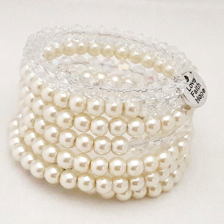 Cream Wire Bracelet by StyLash Accessories