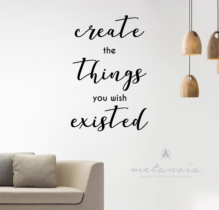 Inspirational Quote Vinyl Decal by Metanoia Graphic Design