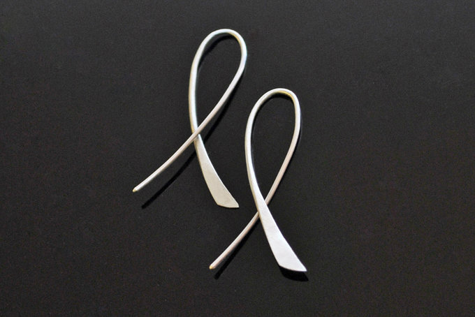 Silver Cross Flow Earrings by Duke & Dutch