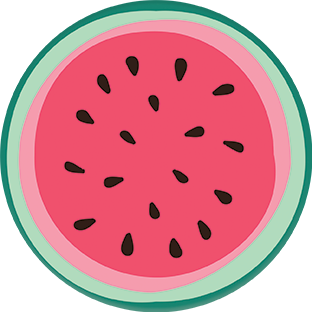 Coasters | SUMMER Collection | Watermelon Slice | CS012 by RAkt