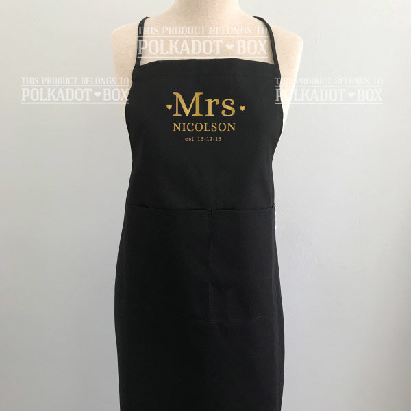 Custom Mrs Apron  by Polkadot Box