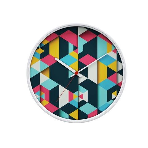 Geometric Art Wall Clock by Hip & Tony