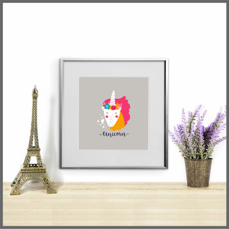 Cute Animals Set of 3 Unicorn Prints/Posters/Wall Art by The Art of Creativity Studio