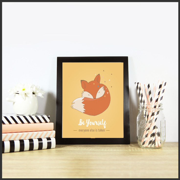 Cute Foxes Set of 3 Inspirational Posters/Prints/Wall Art by The Art of Creativity Studio