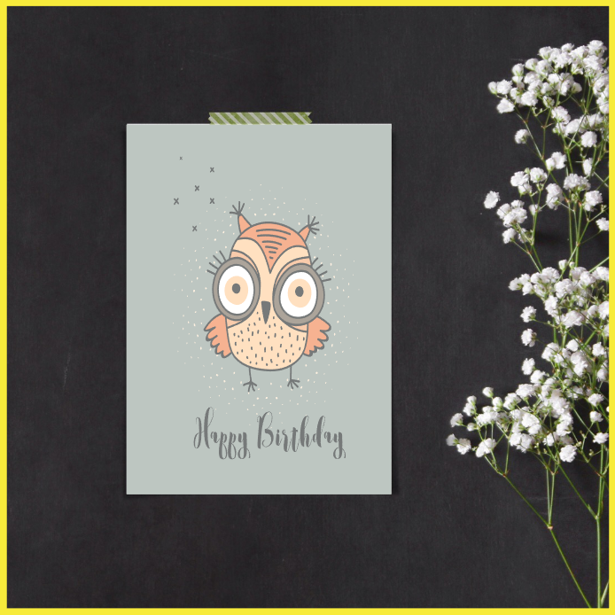 Cute Owl Set of 3 Posters/Prints/Wall Art  by The Art of Creativity Studio