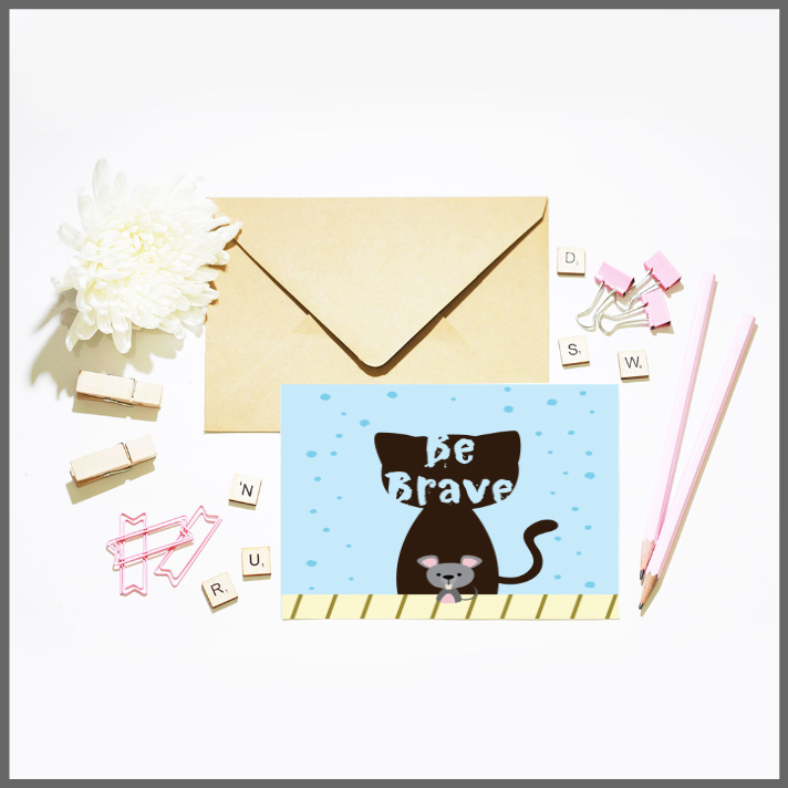 Be Brave Card and Print Set by The Art of Creativity Studio