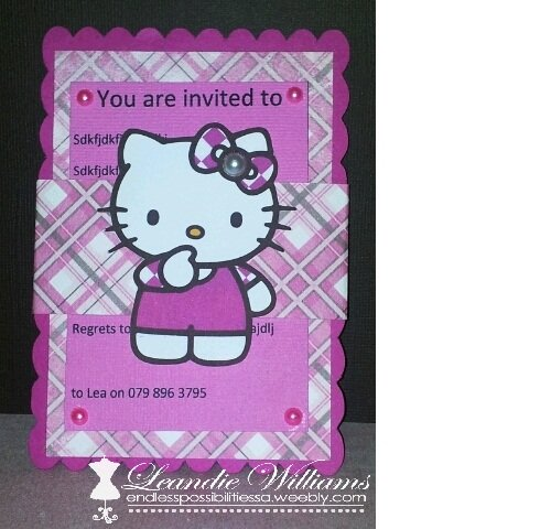 Hello Kitty Invitations By EndlessPossibilitiesSA