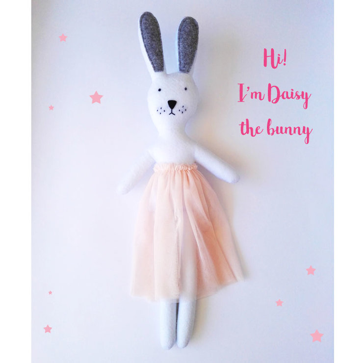 Daisy the bunny rag doll by Hello Bella Studio