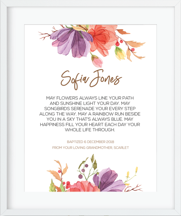 Personalised Goddaughter Gift - Printable by NC Studio