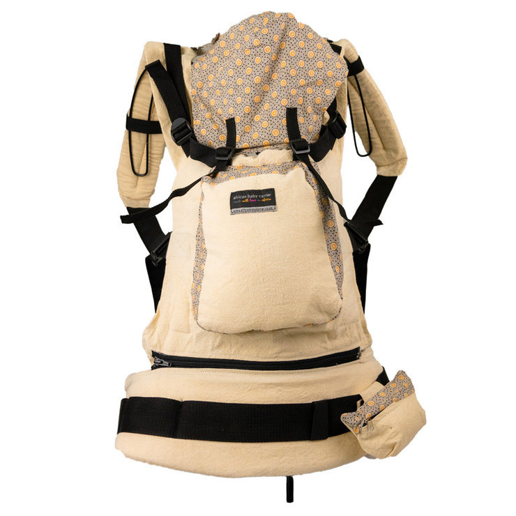 Deluxe Baby Carrier Beige ShweShwe  by African Baby Carrier