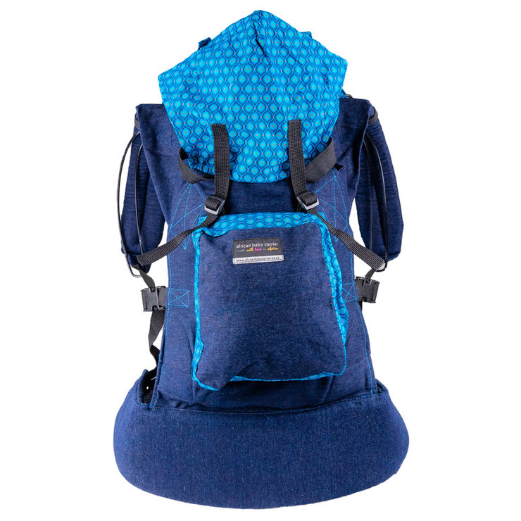 Original Colourful ShweShwe (Denim) by African Baby Carrier