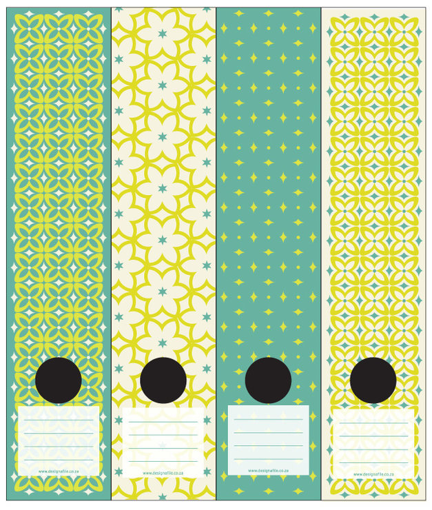 Lever Arch File Labels Diamond Florals Clr1 Hello