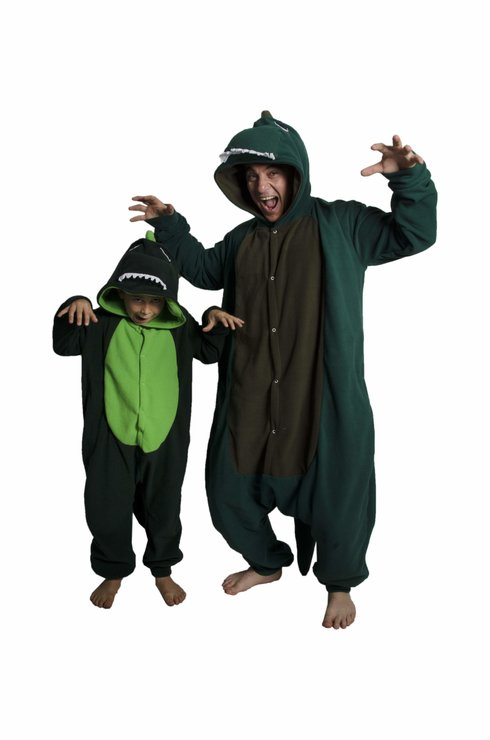 Kids Animal Onesie - Dinosaur (Jumpsuit, Costume, Kigurumi) by aFREAKA Clothing