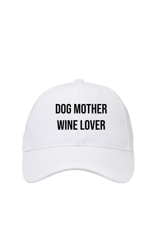 Wishbone Dog Mother Wine Lover Slogan Cap by Love & Sparkles