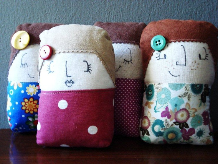 Molly Dollies - handheld doll or Pincushion for Two by Off the Board Design