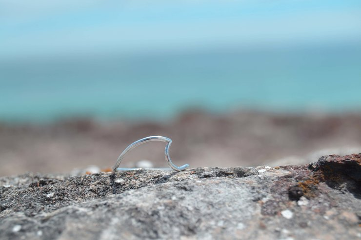 Silver Wave Ring by Aurea Jewellery Design