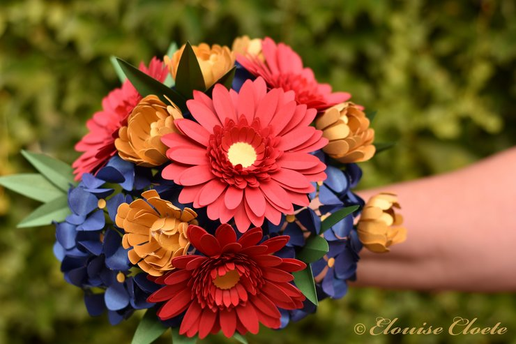 Mixed paper flower bouquet hello pretty buy design mixed paper flower bouquet by elouise swart mightylinksfo